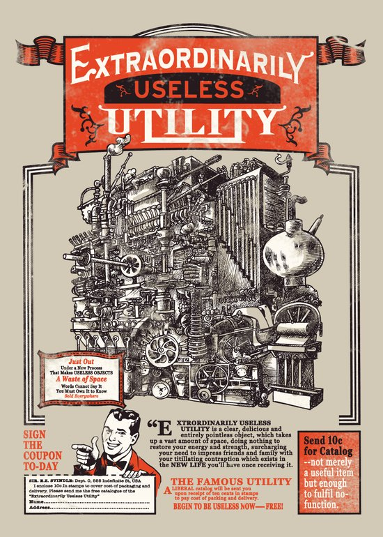 Extraordinarily Useless Utility Art Print