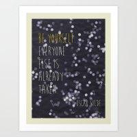 Sun Print - Be Yourself Art Print