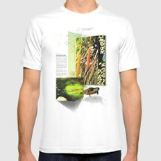 Red-Eared Turtle Mens Fitted Tee SMALL White