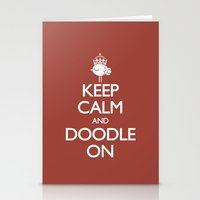 Keep Calm & Doodle On (Red) Stationery Cards