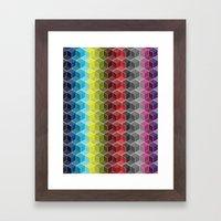 Hexagon Shades / Pattern… Framed Art Print