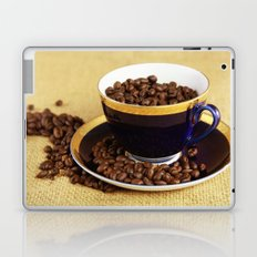 Blue coffee cup kitchen image Laptop & iPad Skin