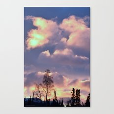 Rose Serenity Sky Canvas Print