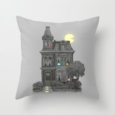Haunted by the 80's Throw Pillow