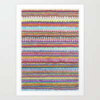 fusion color invasion Art Print