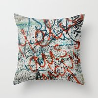 berlin wall Throw Pillow