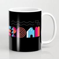 Postcards from Amsterdam / Typography Mug