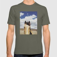 Cloudy Horse Head Mens Fitted Tee Lieutenant SMALL