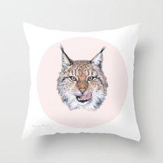 Lynx Lynx portrait Throw Pillow