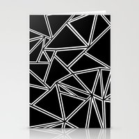Shattered Ab Zoom  Stationery Cards