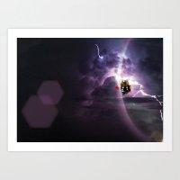 Super Bears - ACTION! Th… Art Print