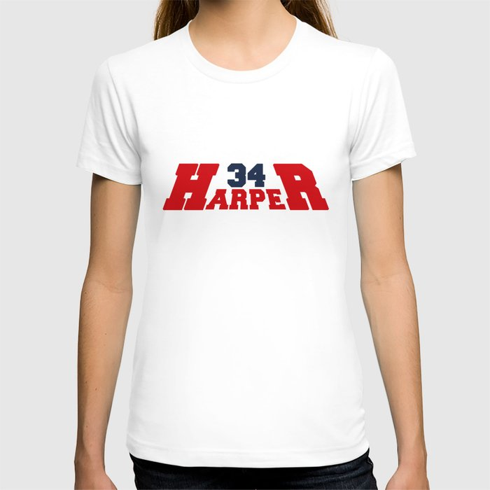 Hr harper red and blue t shirt by nationalsreview society6 for Red and blue t shirt