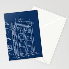 Plan Tardis Stationery Cards