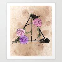 The Deathly Hallows Art Print