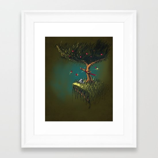 Apple Ninja Framed Art Print