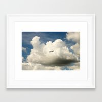Airplane/Fly/Clouds/Sky Framed Art Print