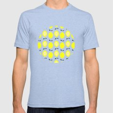 LEMONS  Mens Fitted Tee Tri-Blue SMALL