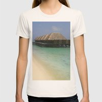 Stilt Houses - Maldives Womens Fitted Tee Natural SMALL