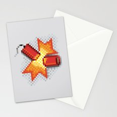 Pixel Boom Stationery Cards