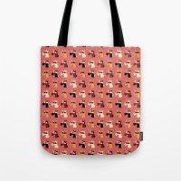 Masked Unicorns Pattern Tote Bag