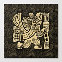 Aztec Eagle Warrior Canvas Print