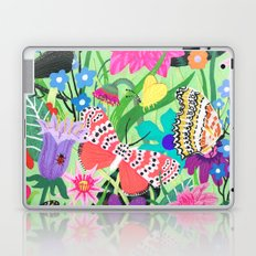 Butterfly and Moths Pattern - Green Laptop & iPad Skin