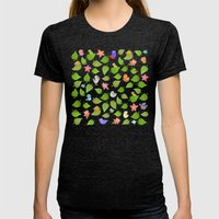 birds&leaves Womens Fitted Tee Tri-Black SMALL