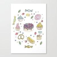 Sweet Cake Canvas Print