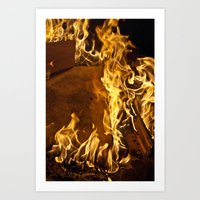 Fiery Footprints  Art Print