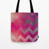 PINK Chevron Tote Bag