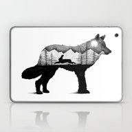 THE WOLF AND THE RABBIT Laptop & iPad Skin