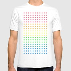 Sugar Dots (black) White SMALL Mens Fitted Tee