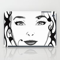 Black And White Face Orn… iPad Case