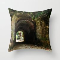 Old tunnel 2 Throw Pillow