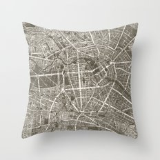 Berlin Map Throw Pillow