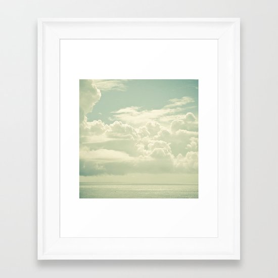As the Clouds Gathered Framed Art Print