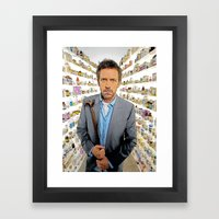 House MD - Colored Penci… Framed Art Print
