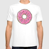 Doughnut Mens Fitted Tee White SMALL
