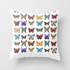 Butterflies (Papillons) Throw Pillow