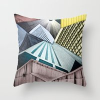 Angles of City Structures Throw Pillow