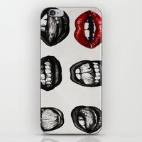 black lips red mouth iPhone & iPod Skin