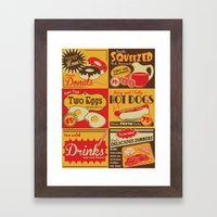 Retro Kitchen Advertising (no. 2) Framed Art Print