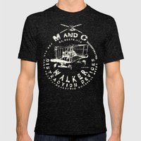 M and C incorporated Mens Fitted Tee Tri-Black SMALL