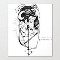 plumb line Canvas Print