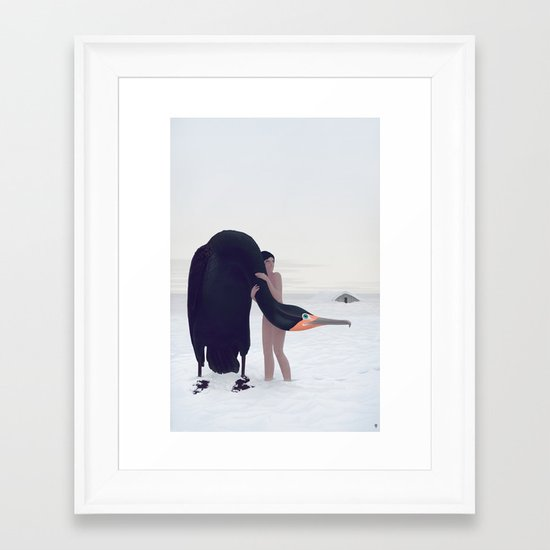 You Could Stay There. Less sky.  Framed Art Print