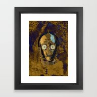 Framed Art Print featuring C3P0 by Some_Designs