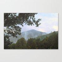 Foggy Mountain Top Canvas Print