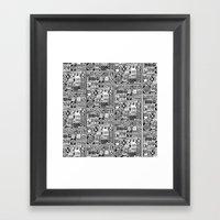 Black And White Icons Framed Art Print