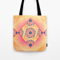 Roses in abstact Tote Bag