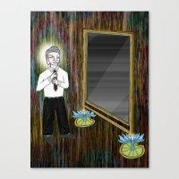 The Empty Mirror Canvas Print